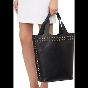 Robert Clergerie Black Leather Viki Tote NWT