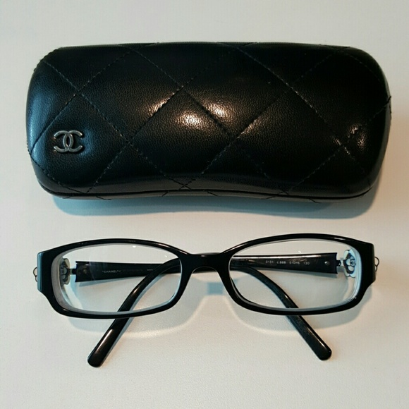 288d811312a CHANEL Accessories - Chanel Eyeglasses Black Frame with Camellia Motifs