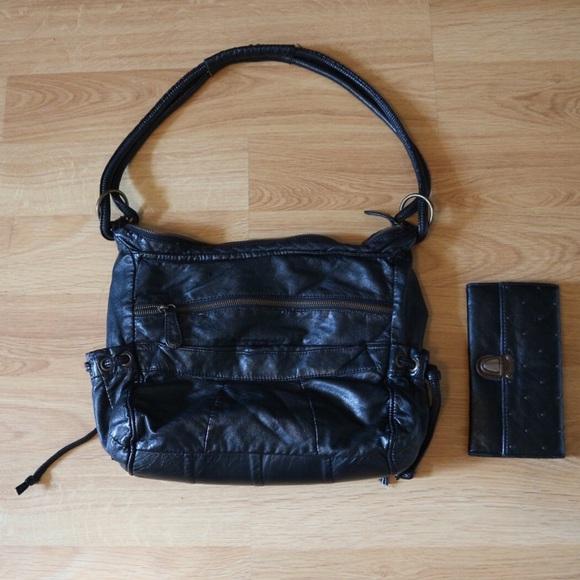 Deux Lux Bags Vegan Leather Purse Long Strap Side Bag