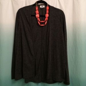 Old Navy, size M, charcoal grey cardigan