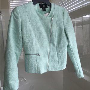 H&M blazer, mint green, size 4