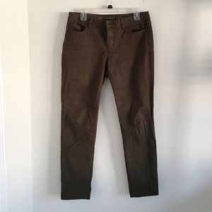 LC Lauren Conrad army green skinny jeans size 8