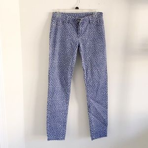 blank nyc skinny jeans size 29 blue polka dots