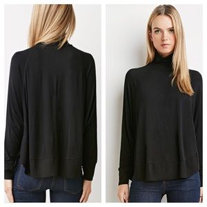 Black Premium Knit Turtleneck Sweater