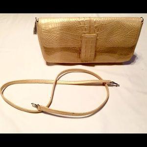Preston & York Handbags - ❣BEAUTIFUL❣GOLD METALLIC CLUTCH•CROSS-BODY PURSE