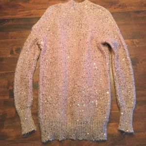 Express Sweaters - sequined open cardigan