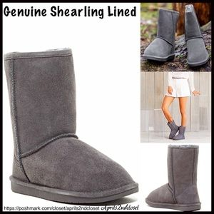 BP Nordstrom Brand A Bound Shoes - Suede Genuine Shearling Lined Boots