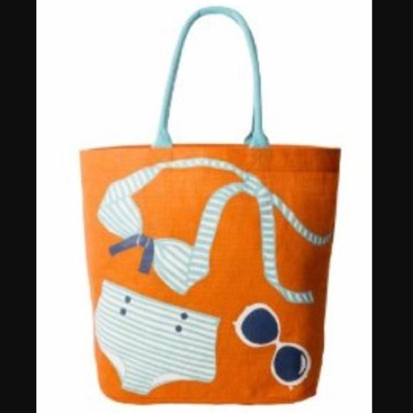 84% off Mud Pie Handbags - NWOT Mud Pie Orange Beach Bag!!👙 from ...