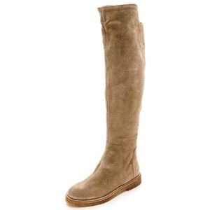Vince Shoes - 🆕 Vince Beige Suede Over the Knee Boots