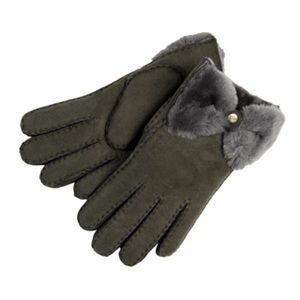 Ugg classic bow shorty gray gloves s