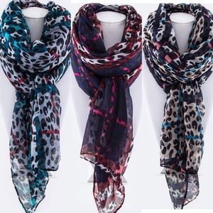 Accessories - Mad for Plaid Leopard Print Scarf