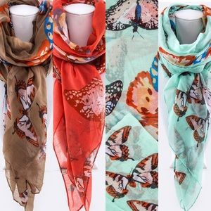 Accessories - Butterfly Print Large Scarf