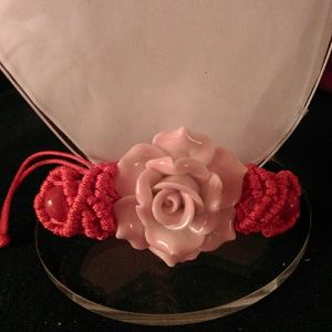 Jewelry - Painted Ceramic Clay Flower Bracelet
