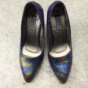 Deena & Ozzy multi color heels
