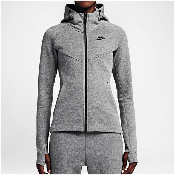 ec101f3aaff0 Nike Grey Tech Fleece Windrunner Hoodie