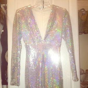 Dresses & Skirts - Silver Iridescent Dress