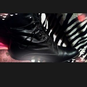"""Vintage 90's Combat """"Witchy"""" boots w/ cuban heel"""