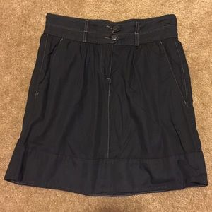 Like new! Urban Outfitters Navy high-waisted skirt
