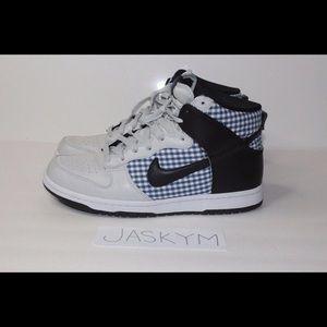 Nike Shoes - Nike Dunk Hi Tops Gingham Men's 9.5 Womens 11-12
