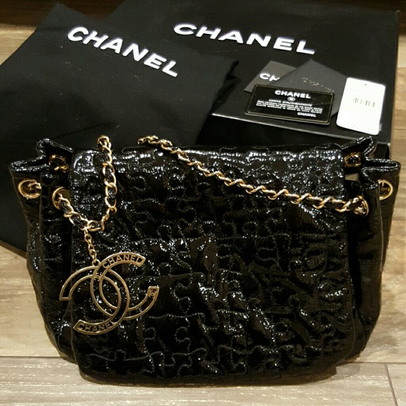 CHANEL Bags   Puzzle Bag With Flap Patent Blackgold   Poshmark f39f5821b2