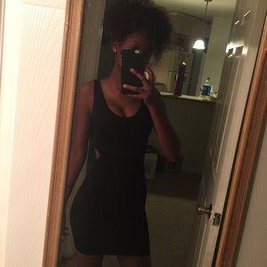 Bebe textured mini dress