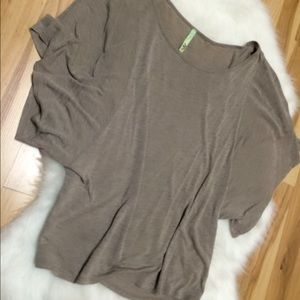 Tops - Taupe Batwing Top