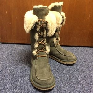 UGG Shoes - Ugg Suede Boots - Whitley - Olive Green US (W)7