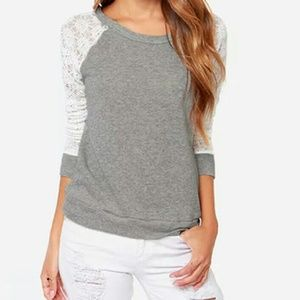 Tops - Long Sleeve with White Lace