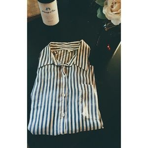 F21 stripped button up