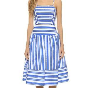 J.O.A. athletic striped midi skirt