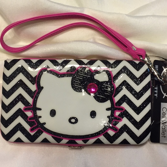 99a13ea78 Claire's Accessories | Hello Kitty Cellphone Wallet Wristlet | Poshmark