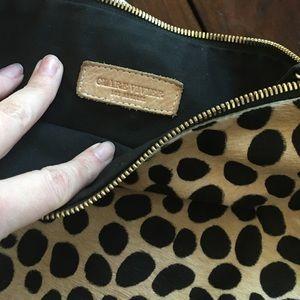 Clare Vivier Bags - Clare V. (Vivier) Leopard Hair Calf Flat Clutch