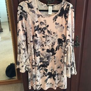 Darling dress pale pink with grey and black