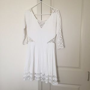 🌈 Free People White Dress