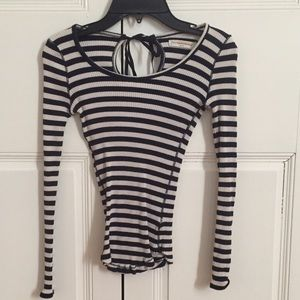 Anthropologie fitted striped shirt