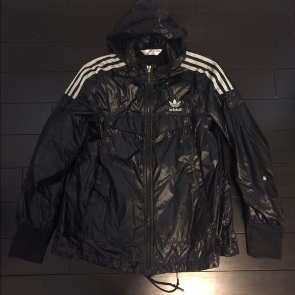 Adidas Jackets Coats Originals Rain Jacket Blacksilver Small