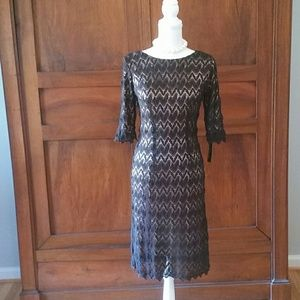 AGB Dresses & Skirts - AGB black lace overlay dress size 6. NWT!