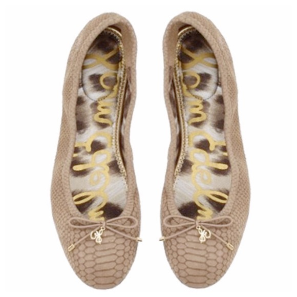 Sam Oats Edelman scarpe   Felicia Ballet Flats Toasted Oats Sam   Poshmark eca266
