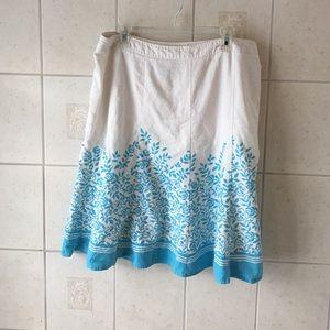 Blue/White Skirt