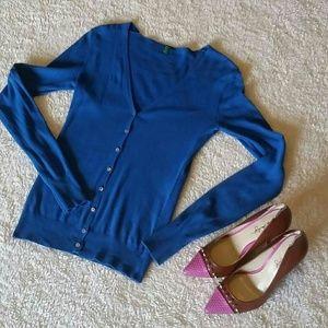 United Colors Of Benetton Sweaters - Benetton cobalt blue cardigan size small. EUC!