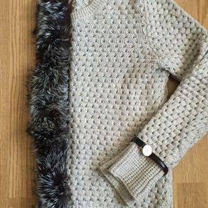 Adrienne Landau Accessories - Adrienne Landau Velvet Lined Fur Scarf