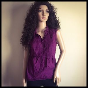 Converse plum sleeveless blouse