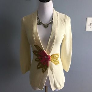 Anthropologie flower cardigan