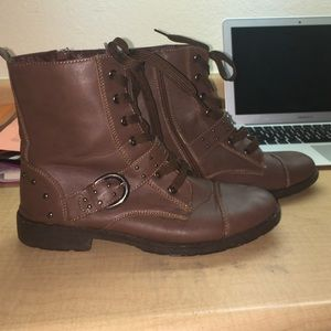 traffic Shoes - Brown studded boots