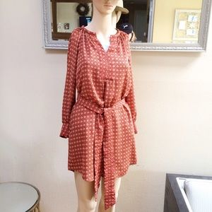 Banana Republic Fall Print Long Sleeve Dress