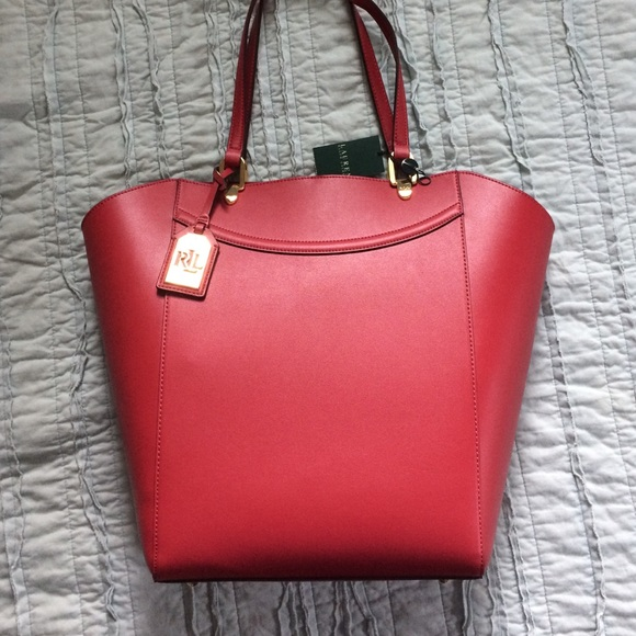 fc93cd0347 Lexington Tote in Fall Red by Ralph Lauren