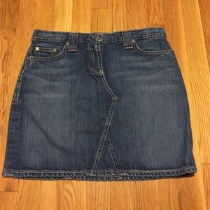 J. Crew denim mini skirt