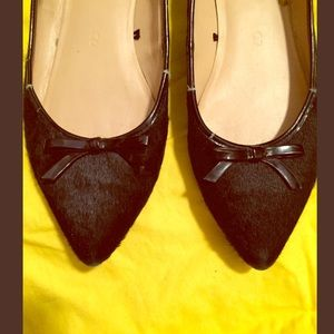 Joe Fresh black pointy toe flats