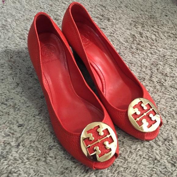 6f42bcef5fec7 Tory Burch  Sally 2  peep toe wedge heels. M 56ad0c66ea3f36785d001984
