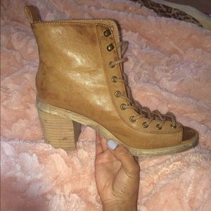 Deena & Oozzy Shoes - Shoe lace up boot. Worn twice.